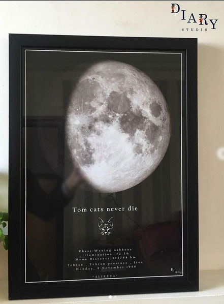 هدیه شخصی سازی شده همان تابلو آسمان شب تولد