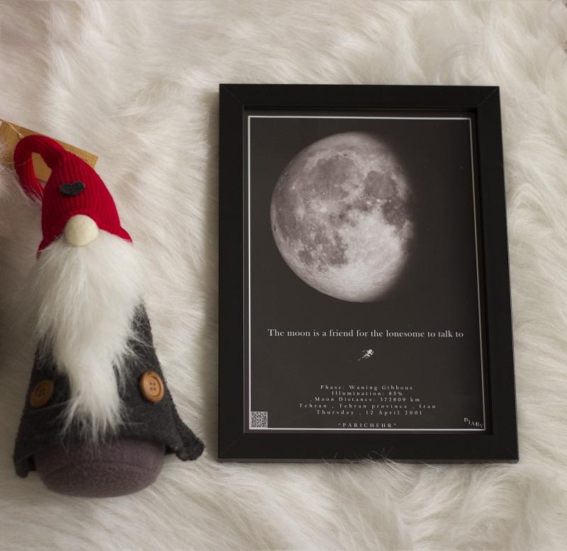 تابلو آسمان مدل ماه شب تولد